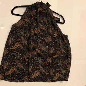 J. Crew Halter Top with tie at back of neck